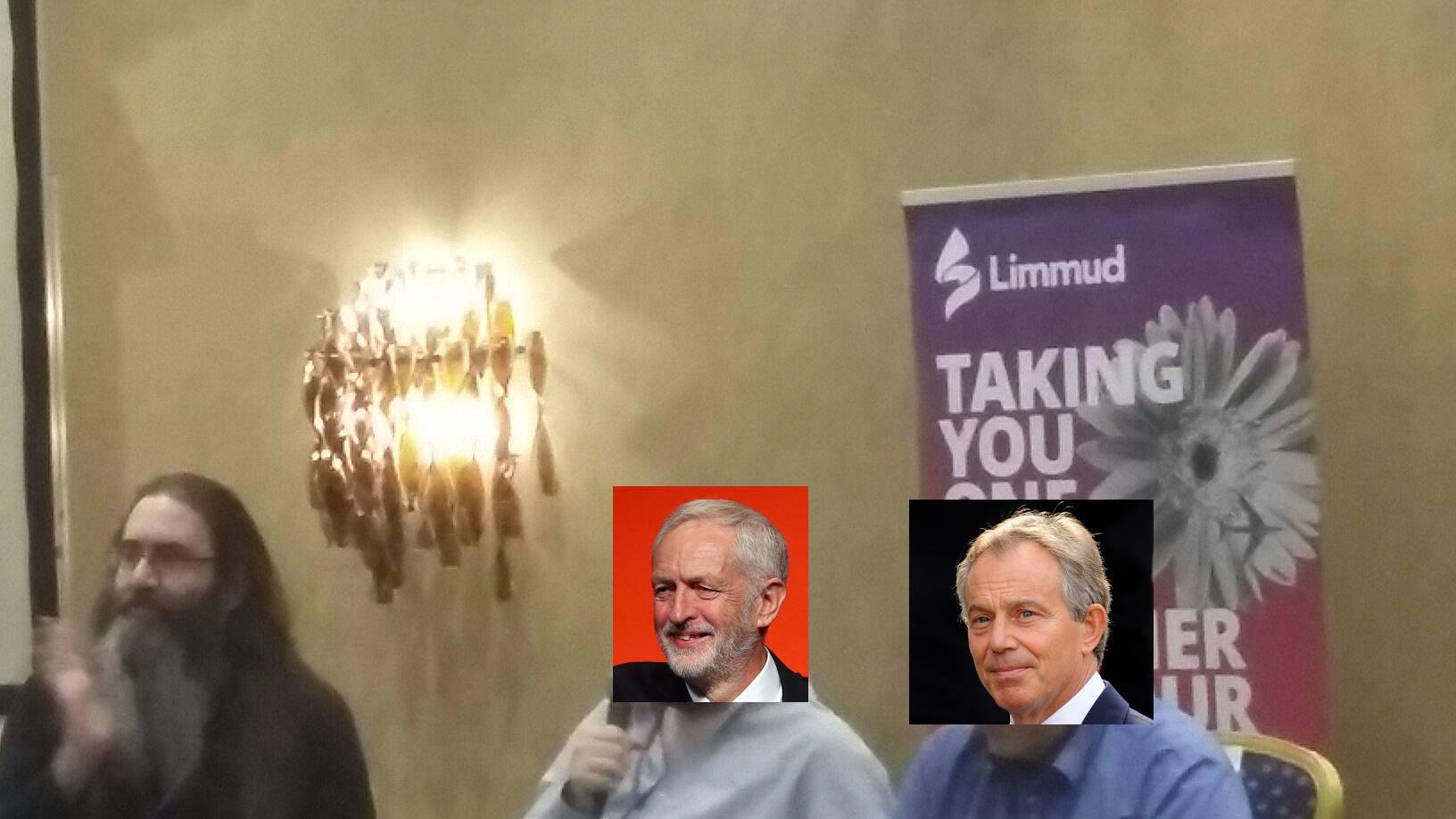 Keith moderates Dan Corbyn and Barnaby Blair at a Session at Limmud 2019